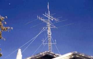 Picture of Bob Kings's amateur radio tower.